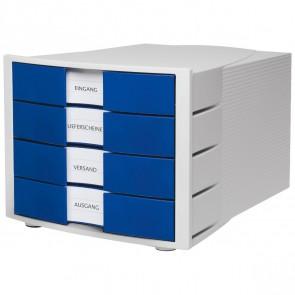 HAN Schubladenbox A4 1011-X IMPULS lichtgrau / blau