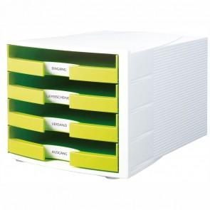 HAN Schubladenbox A4 1011-X IMPULS Trend Color weiß / lemon