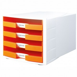 HAN Schubladenbox A4 1011-X IMPULS Trend Color weiß / orange