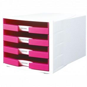 HAN Schubladenbox A4 1011-X IMPULS Trend Color weiß / pink
