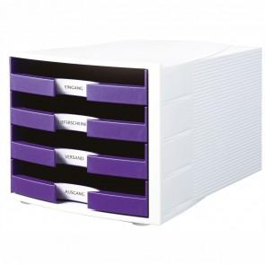 HAN Schubladenbox A4 1011-X IMPULS Trend Color weiß / lila