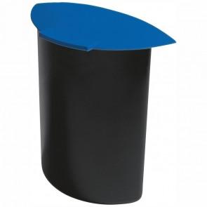HAN Abfalleinsatz MOON 1838 schwarz / blau mit Deckel 6 Liter für 18190