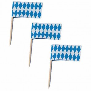 TIB Flaggen Picker bayerisch Raute 200 Stück