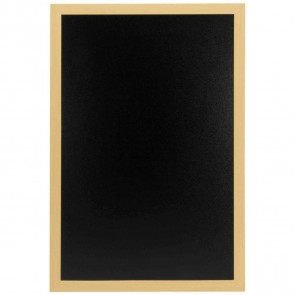 SECURIT Woody Kreidetafel 40x60cm schwarz mit Holzrahmen incl. Kreidemarker