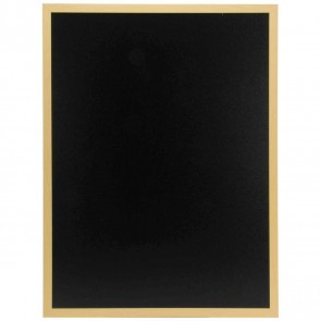 SECURIT Woody Kreidetafel 60x80cm schwarz mit Holzrahmen incl. Kreidemarker