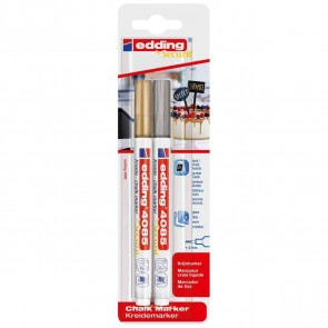 EDDING by Securit Kreidemarker 4085 gold / silber 1-2mm
