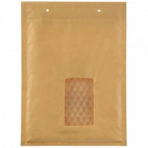 airpoc® Luftpolstertasche D14 braun mit Fenster Innenmaß 180x265mm