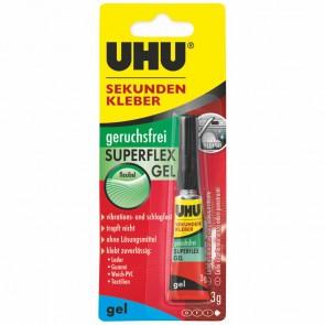 UHU Sekundenkleber SUPERFLEX GEL 45565 3g Tube geruchsfrei