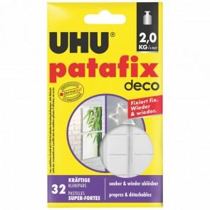 UHU Klebepad patafix 47910 homedeco 32 Stück wieder ablösbar weiß