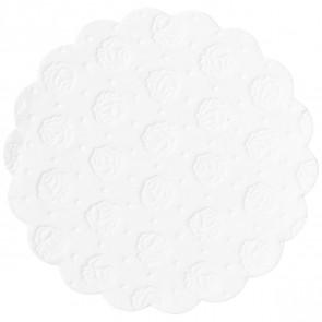 DEMMLER Tassenuntersetzer 9 cm Zelltuch weiß 20 Stück