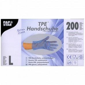 PAPSTAR Einweghandschuh 84286 TPE Gr. L blau 200 Stück