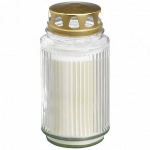 BOLSIUS Öllicht Laternenglas mit Deckel 173 x 90mm weiß