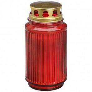 BOLSIUS Öllicht Laternenglas mit Deckel 173 x 90mm rot
