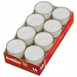 BOLSIUS Maxi Teelichter im Acryl Cup transparent bis 9 Std. 16 Stück