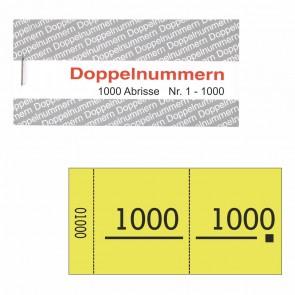 Doppelnummernblock gelb 1-1000