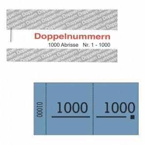 Doppelnummernblock blau  1-1000