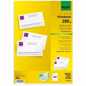 SIGEL Visitenkarten DP939 85x55mm 200g weiß 600 Stück microperforiert