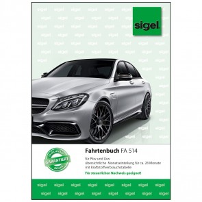 SIGEL Fahrtenbuch FA514 A5 32 Blatt für PKW und LKW