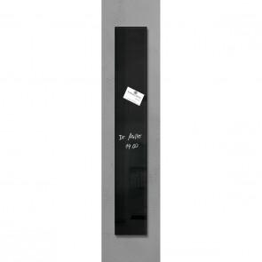 SIGEL Glas Magnetboard GL100 artverum schwarz 12 x 78cm