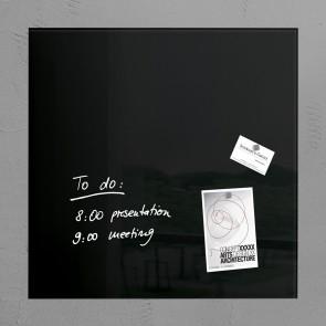 SIGEL Glas Magnetboard GL110 artverum schwarz 48 x 48cm