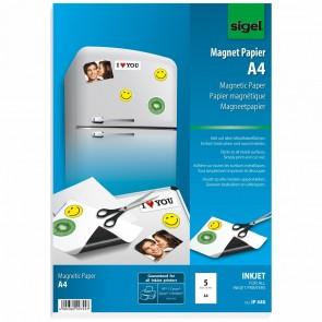 Magnetpapier A4 weiß 5Bl für Inkjet