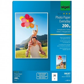 SIGEL Inkjet Fotopapier IP711 A4 200g glossy 50 Blatt