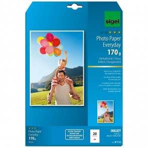 SIGEL Inkjet Fotopapier IP713 A4 170g glossy 20 Blatt