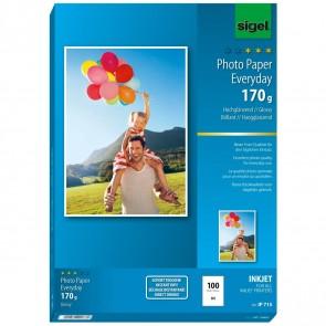 SIGEL Inkjet Fotopapier IP715 A4 170g glossy 100 Blatt