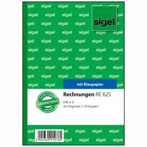 SIGEL Rechnung RE625 A6 2 x 50 Blatt mit Blaupapier