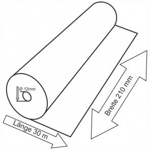 Telefaxrolle 210mm x 30m x  12mm Thermopapier