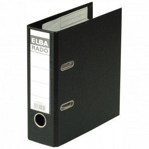 ELBA Ordner 10597 rado plast PVC A5 hoch 75mm schwarz