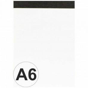 LANDRE Notizblock A6 blanko 50 Blatt perforiert