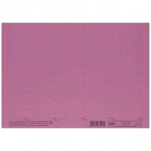 ELBA Beschriftungsschild rot 83582RO 58x18mm (1BG = 50 Schilder)