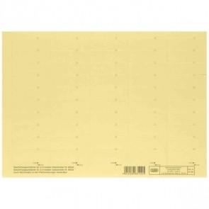 ELBA Beschriftungsschild gelb 83582GB 58x18mm (1BG = 50 Schilder)