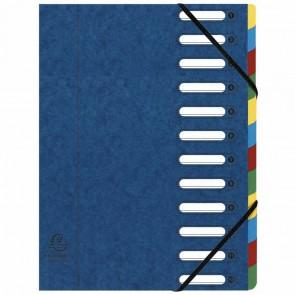 EXACOMPTA Ordnungsmappe A4 Harmonika 12-teilig blau