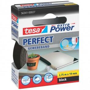 TESA Gewebeband extra Power 56341 19mm x 2,75m schwarz