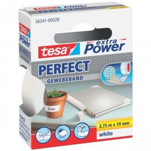 TESA Gewebeband extra Power 56341 19mm x 2,75m weiß