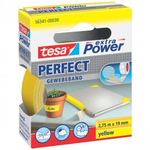 TESA Gewebeband extra Power 56341 19mm x 2,75m gelb