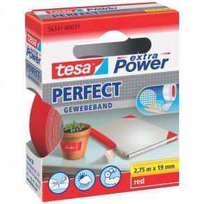 TESA Gewebeband extra Power 56341 19mm x 2,75m rot