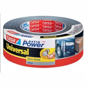 TESA extra Power Folienband 50m x 48mm silber gewebeverstärkt