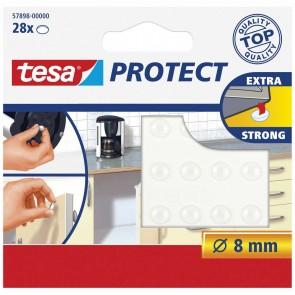 TESA Protect Rutschstopper Lärmstopper 8mm rund transparent 28 Stück extra strong