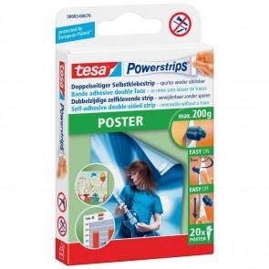 TESA Powerstrips Poster 58003 bis 200g weiß 20 Stück