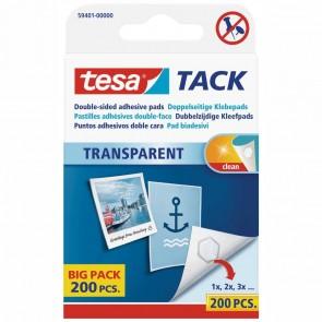 TESA Tack doppelseitige Klebepads -BIGPACK- transparent 200 Stück