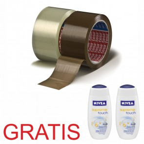 TESA Packband 64014 66m x 50mm braun PP 36 Rollen +2x Duschgel GRATIS