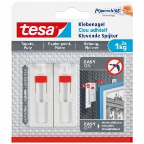 TESA Klebenagel 77774 Tapete & Putz weiß 2 Stück bis 1kg