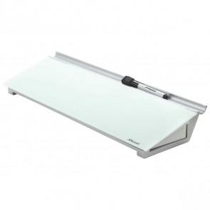 REXEL Schreibtisch Glas Memoboard Diamond weiß / silber + Spezialmarker
