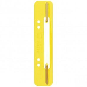 LEITZ Heftstreifen kurz 3710 Kunststoff gelb 25 Stück