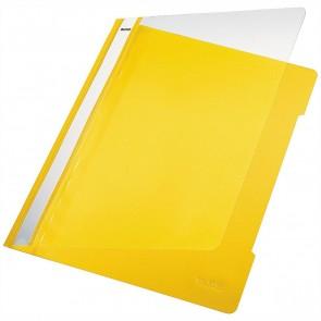 LEITZ Schnellhefter 4191 A4 PVC gelb mit transparentem Vorderdeckel