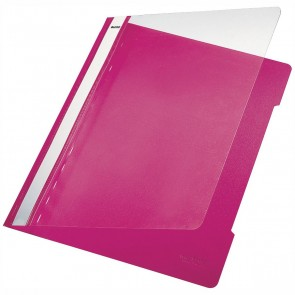 LEITZ Schnellhefter 4191 A4 PVC pink mit transparentem Vorderdeckel