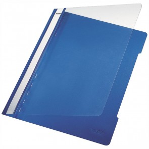 LEITZ Schnellhefter 4191 A4 PVC blau mit transparentem Vorderdeckel